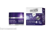 Lavera Organic Re-energising Sleeping Cream 5 in 1 - 50ml  Natural Bio cosmetics