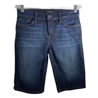 Joes Jeans Womens Jean Shorts Stretch Denim Casual Bottoms Bermuda Blue Size 28