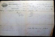 1864 CIVIL WAR ERA BRIG BENJAMIN CARVER ST JOHNS PR MAYAGUEZ SUGAR TRADE CUSTOMS