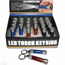 Mini LED Torch Keyring Keychain Flashlight SUPER STRONG Camping Light Garage NEW