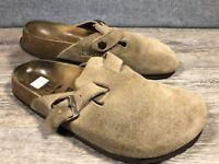 ffc334d038ea BIRKENSTOCK Betula Tan Beige Suede Mules Slides Sandals Womens 38   7 Narrow