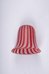 """Vintage ribbon Glass Lamp Smoke Bell  3-3/8"""""""