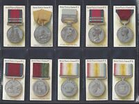 TADDY - BRITISH MEDALS & RIBBONS - FULL SET OF 50 CARDS
