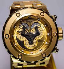 Invicta Reserve Subaqua Specialty Master Calendar Gold Tone SS Watch #18545 NIB