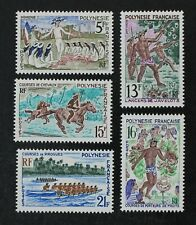 CKStamps: France Stamps Collection French Polynesia Scott#228-232 Mint H OG