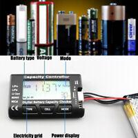 Digital Battery Capacity Tester Checker Controller LCD For LiPo NiMH Li-ion  !!