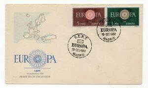Spain Europa CEPT 1960 first day cover