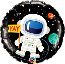 Qualatex Happy Birthday Astronaut Foil Balloon 46 cm (18 in) Space Theme Party