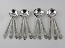 "Lunt Mary II 2 Sterling Silver Bouillon Soup Spoons - Set of 12 - 5 3/8"" - Mono"