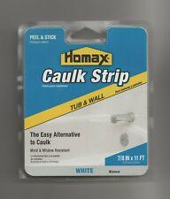 """New listing Homax Caulk Strip Tub & Wall White 7/8""""x11' Peel & Stick"""