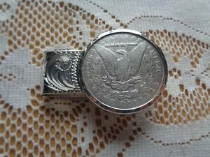 STERLING SILVER 1890 MORGAN SILVER DOLLAR CARSON CITY MONEY CLIP