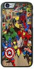 Hulk Spider-Man Thor Superheroes Comic Design Phone Case for iPhone Samsung etc.