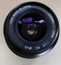 COSINA 28mm f2.8 Prime Lens - Nikon Non-AI ?? (See photos to be sure of mount)