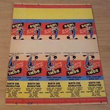 "1950's Uncut ADVERTISING Matchbook Sheet~""NORTH END RECREATION"" Detroit~"