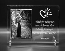 Personalised Mum Mother Thank You Love Gift Idea Photo Frame Engraved 4 x 6
