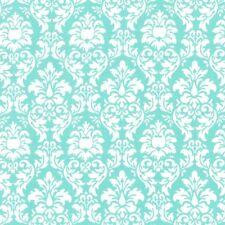 Michael Miller Petite Dandy Damask Aqua Fabric