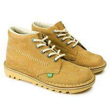 Kickers Kids Kick Hi Boys Boots Natural Tan Size 1 Bargain £36.99