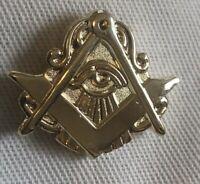 Masonic Eye Lapel Pin Gold Rare