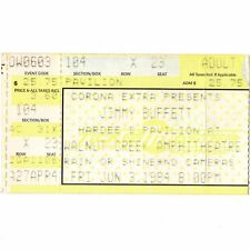 Jimmy Buffett Concert Ticket Stub Raleigh Nc 6/3/94 Hardee'S Fruitcakes Tour