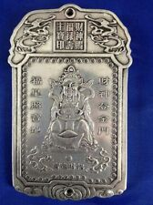 Chinese Collection Tibet Silver Hand Carved Wealth comes  Predant NR