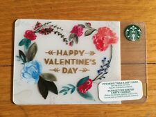 """Canada Series Starbucks """"HAPPY VALENTINES DAY 2016"""" Gift Card - New No Value"""