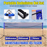 6.1M Badminton Tennis Net Stand Frame Net Rack Adjustable Portable Easy Carry