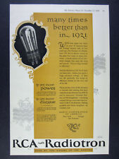 1926 RCA Radiotron UX-201-A Radio Radiola Tube vintage print Ad