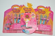 TROLLS GEL PENS 2 SETS & TROLLS TOUCH  LED WATCH