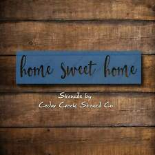 Home sweet home stencil, reusable mylar stencil, craft stencilf or sign making,