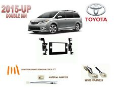 2015-UP TOYOTA SIENNA DASH INSTALL KIT for CAR STEREO, with WIRE HARNESS