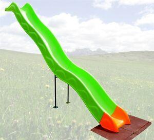 Anbaurutsche Rutsche für Spielturm Wellenrutsche Schaukel 332cm Kinderrutsche
