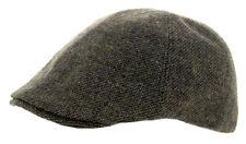 Heritage Traditions para Hombre de Moda Verde Windowpane Tweed Gorra Sombrero al aire libre