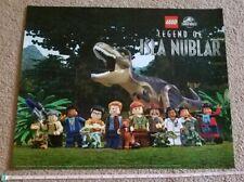 Lego JURASSIC PARK ISLA NUBLAR Poster 20 x 16 SDCC 2019 Comic Con Exclusive Swag