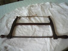 ANTIQUE VINTAGE WOODEN  BOW SAW  J REYNOLD OLD WOODWORKING TOOL DISPLAY OR PROPS