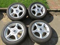 Mini Cooper R50 R53 Alufelgen 5 Star Kompletträder Winterreifen 195/55 R16