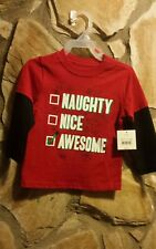 HOLIDAY TIME Toddler Boy Tee Long Sleeve T-Shirt 3T