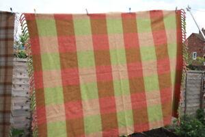 Anta of Scotland Throw Blanket 100% Wool Fired Earth 190 X 145cm