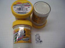 Berkley Power Bait Trout Bait Glitter White Blutwurm 3x50g-Glas 100g/6,66€