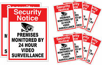 10 Pack Home CCTV Surveillance Security Camera Video Sticker Warning Decal Signs