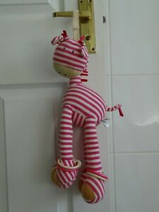 Jelly Cat Hoopy Loopy Pink Striped Giraffe Plush Toy.