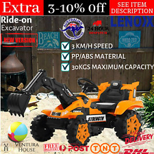 Lenoxx 6V Electric Ride On Outdoor Excavator Tractor Kids Digger Truck Car New