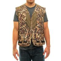 Mossy Oak Camo Mens Deluxe Front Loader Hunting Shooting Vest -Turkey- Bird