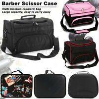 Pro Hair Stylist Salon Barber Hairdressing Scissors Comb Makeup Tool Storage