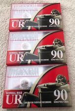 Maxwell UR90 Min. 135m Cassette Position IEC Type I Normal (Lot Of 3) NEW