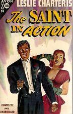 CHARTERIS, Leslie - The SAINT IN ACTION  Avon 118, 1947