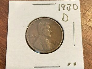 1930-D Lincoln Cent, circulated