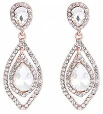Earrings Dangle Teardrop Rhinestone Chandelier Nlcac Women Pear Shape Crystal