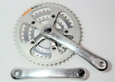 VINTAGE SHIMANO DEORE XT 180 MM BICYCLE SG 28/38/50 TOOTH JIS CRANKSET FC-M730