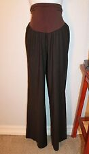 WOMENS LOVELY BROWN LINEN MATERNITY DRESS PANTS by A PEA IN THE POD SZ MEDIUM