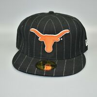 Texas Longhorns NCAA New Era 59FIFTY Pinstripe Fitted Cap Hat - Size: 7 1/2